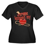 Jerome Lassoed My Heart Women's Plus Size V-Neck D