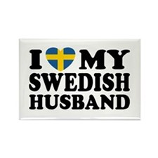 I Love My Swedish Husband Rectangle Magnet