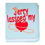 Jerry Lassoed My Heart baby blanket