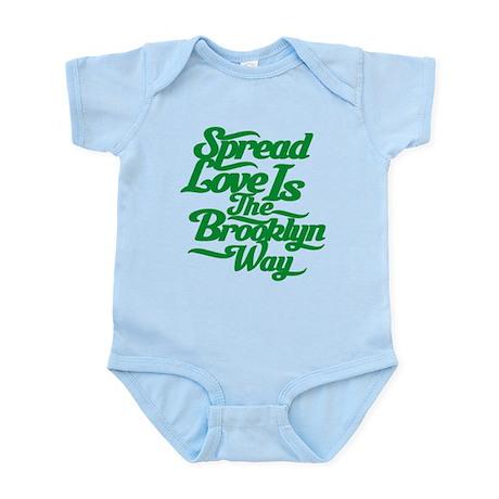 Brooklyn Love Green Infant Bodysuit
