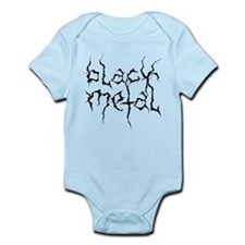 Black Metal (black and gray) Onesie