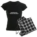 illiterate ? write for help Women's Dark Pajamas