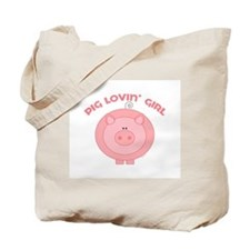 Pig girl Tote Bag