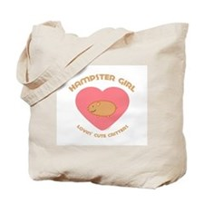 Hamster girl Tote Bag