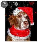 Brittany Spaniel Christmas Puzzle