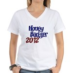 Honey Badger 2012 Women's V-Neck T-Shirt