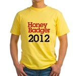 Honey Badger 2012 Yellow T-Shirt
