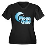 Moonchild Women's Plus Size V-Neck Dark T-Shirt