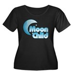 Moonchild Women's Plus Size Scoop Neck Dark T-Shir