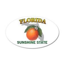 Florida Sunshine State 38.5 x 24.5 Oval Wall Peel