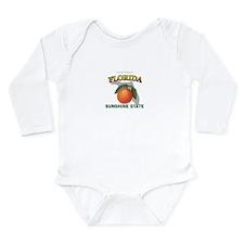 Florida Sunshine State Long Sleeve Infant Bodysuit