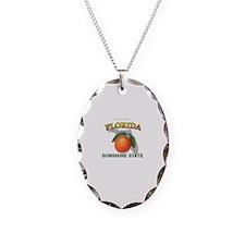 Florida Sunshine State Necklace Oval Charm