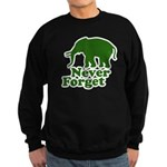 Never forget Sweatshirt (dark)