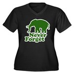 Never forget Women's Plus Size V-Neck Dark T-Shirt