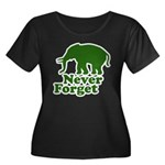 Never forget Women's Plus Size Scoop Neck Dark T-S