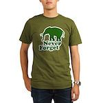 Never forget Organic Men's T-Shirt (dark)