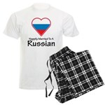 Happily Married Russian Men's Light Pajamas