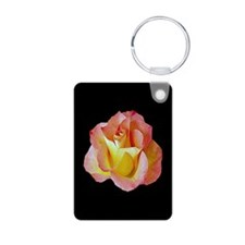 Orange Yellow Rose Photo Keychain