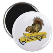 "Squirrel on School Bus 2.25"" Magnet (10 pack)"