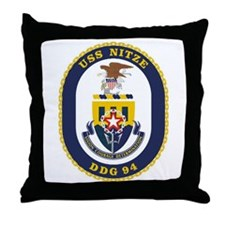 USS Nitze DDG 94 Throw Pillow