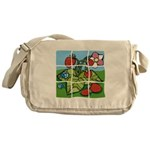 Strawberry Puzzle Messenger Bag
