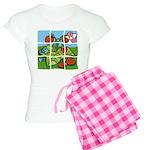 Strawberry Puzzle Women's Light Pajamas