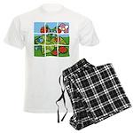 Strawberry Puzzle Men's Light Pajamas