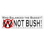 Who Balanced the Budget? Bumper Sticker