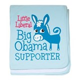 Little Liberal - Big Obama baby blanket