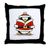 Santa Claus penguin Throw Pillow
