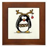 Rudolph penguin Framed Tile