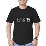 Japanese Peace, Love, Akitas Men's Fitted T-Shirt