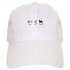 Japanese Peace, Love, Shibas Baseball Cap