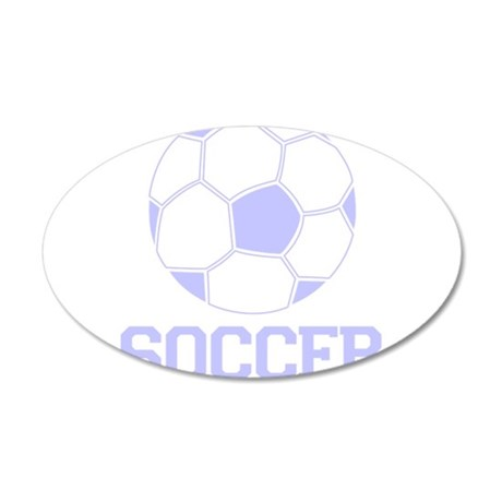 Soccer with Soccer Ball Baby 38.5 x 24.5 Oval Wall