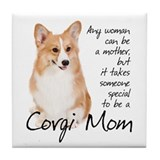 Pembroke Corgi Mom Tile Coaster