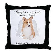 Angel Corgi Throw Pillow
