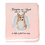 Pembroke Corgi Angel baby blanket