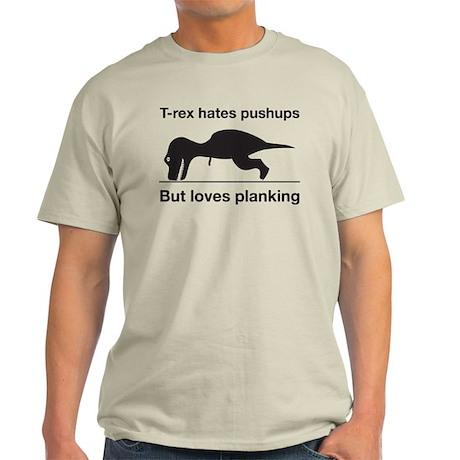 T-rex Planking Light T-Shirt