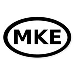 MKE Milwaukee Oval Sticker (10 pk)