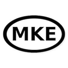 MKE Milwaukee Oval Decal