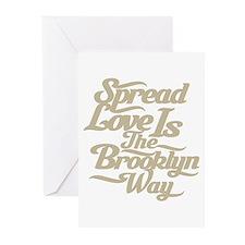 Brooklyn Love Tan Greeting Cards (Pk of 20)