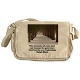 The obstacles of your past c Messenger Bag