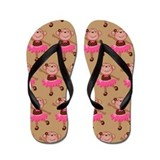 Monkey Ballerina Dance Flip Flops
