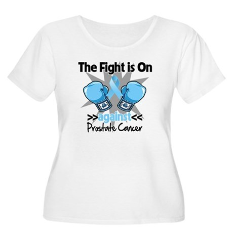 Fight is On Prostate Cancer Women's Plus Size Scoo