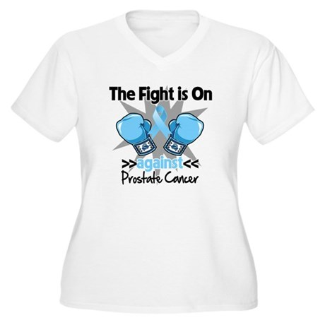 Fight is On Prostate Cancer Women's Plus Size V-Ne