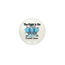 Fight is On Prostate Cancer Mini Button (100 pack)