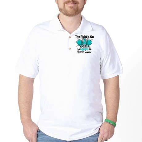 Fight is On Ovarian Cancer Golf Shirt