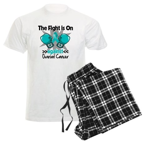 Fight is On Ovarian Cancer Men's Light Pajamas