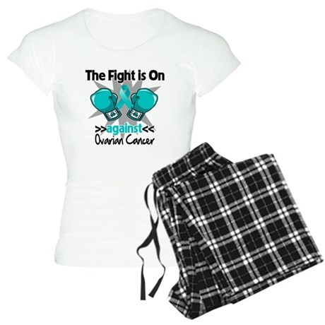 Fight is On Ovarian Cancer Women's Light Pajamas