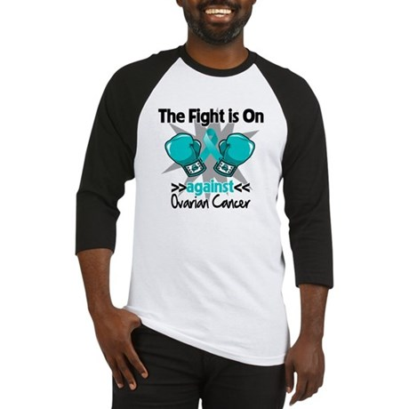 Fight is On Ovarian Cancer Baseball Jersey